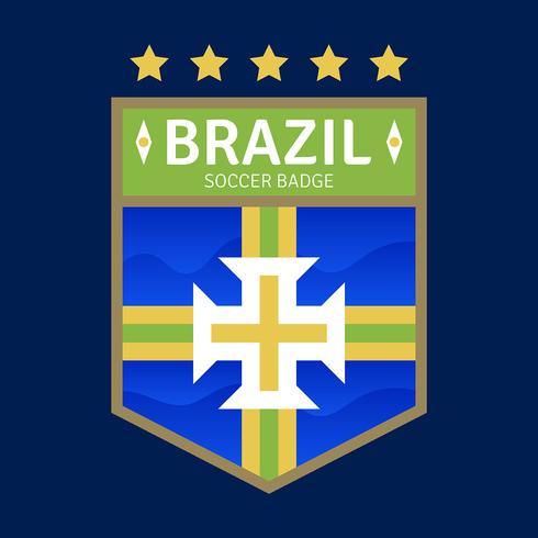 Brasilien WM Fußball-Abzeichen vektor
