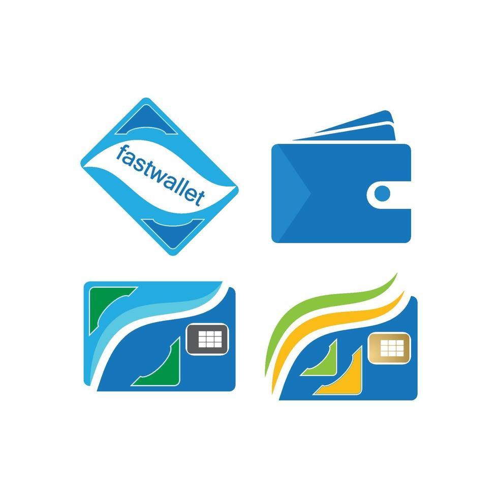 plånbok logotyp vektor set