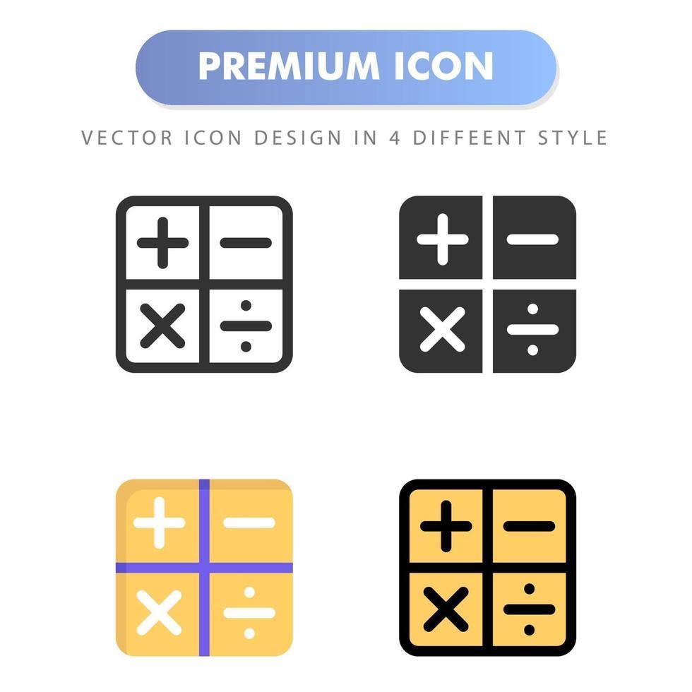 miniräknare ikon för din webbplats design, logotyp, app, ui. vektorgrafikillustration och redigerbar stroke. ikon design eps 10. vektor