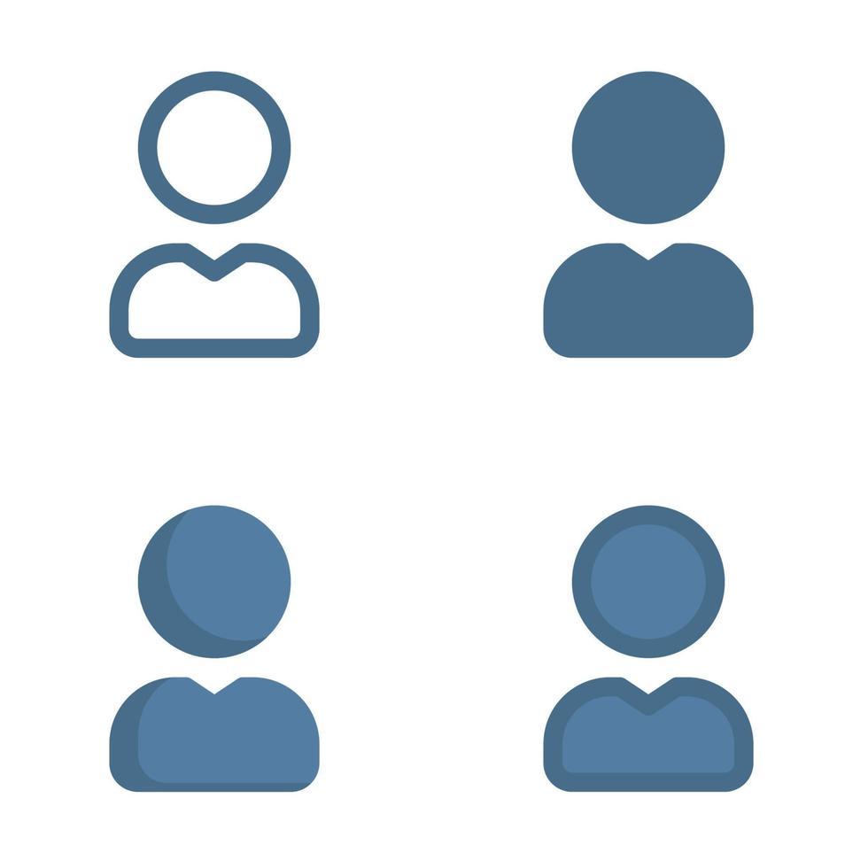 användarikonen i isolerad på vit bakgrund. för din webbdesign, logotyp, app, ui. vektorgrafikillustration och redigerbar stroke. eps 10. vektor
