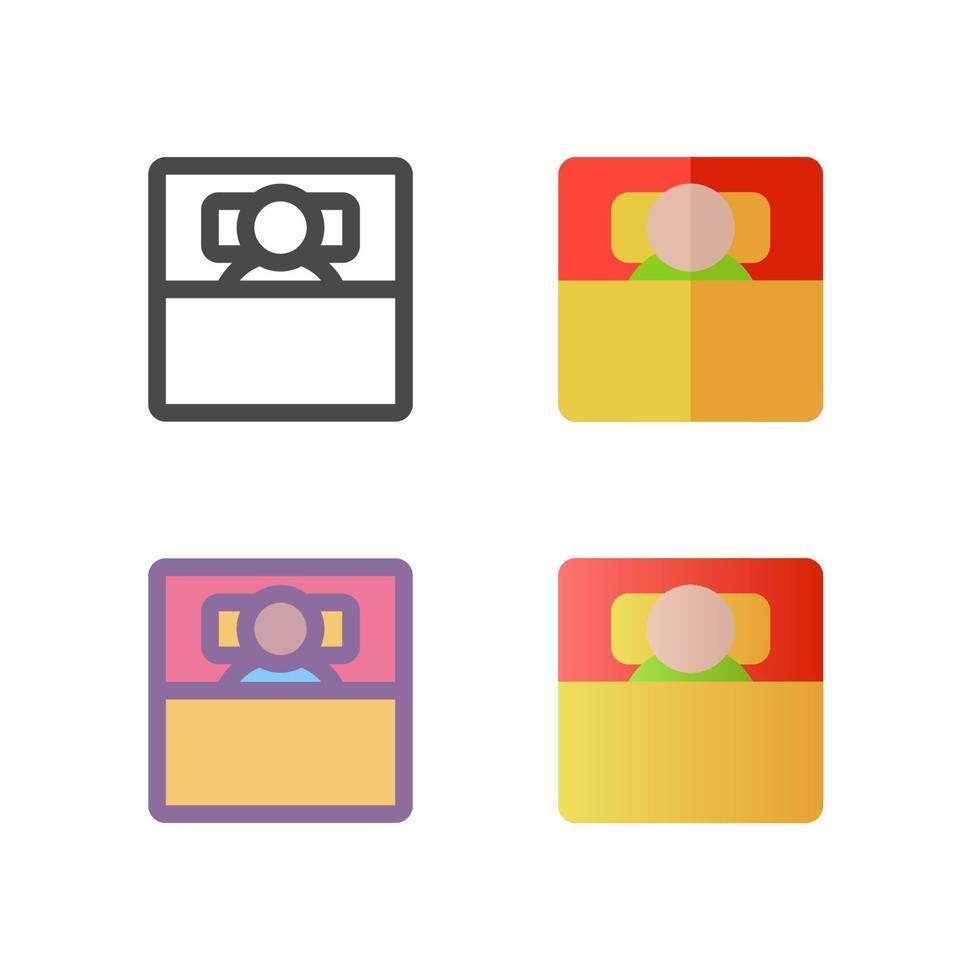 säng ikon pack isolerad på vit bakgrund. för din webbdesign, logotyp, app, ui. vektorgrafikillustration och redigerbar stroke. eps 10. vektor