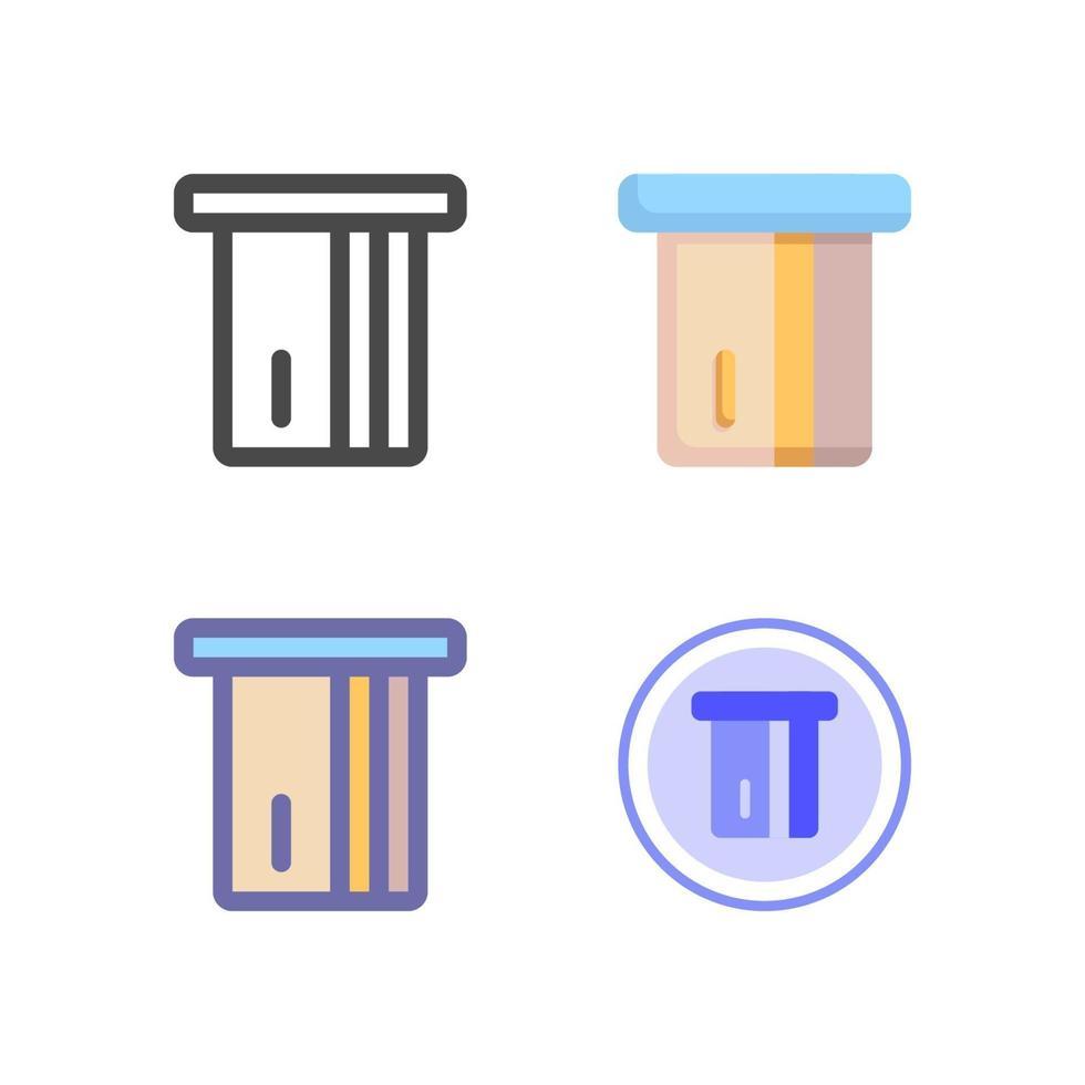 Zahlungssymbolpaket lokalisiert auf weißem Hintergrund. für Ihr Website-Design, Logo, App, UI. Vektorgrafiken Illustration und bearbeitbarer Strich. eps 10. vektor