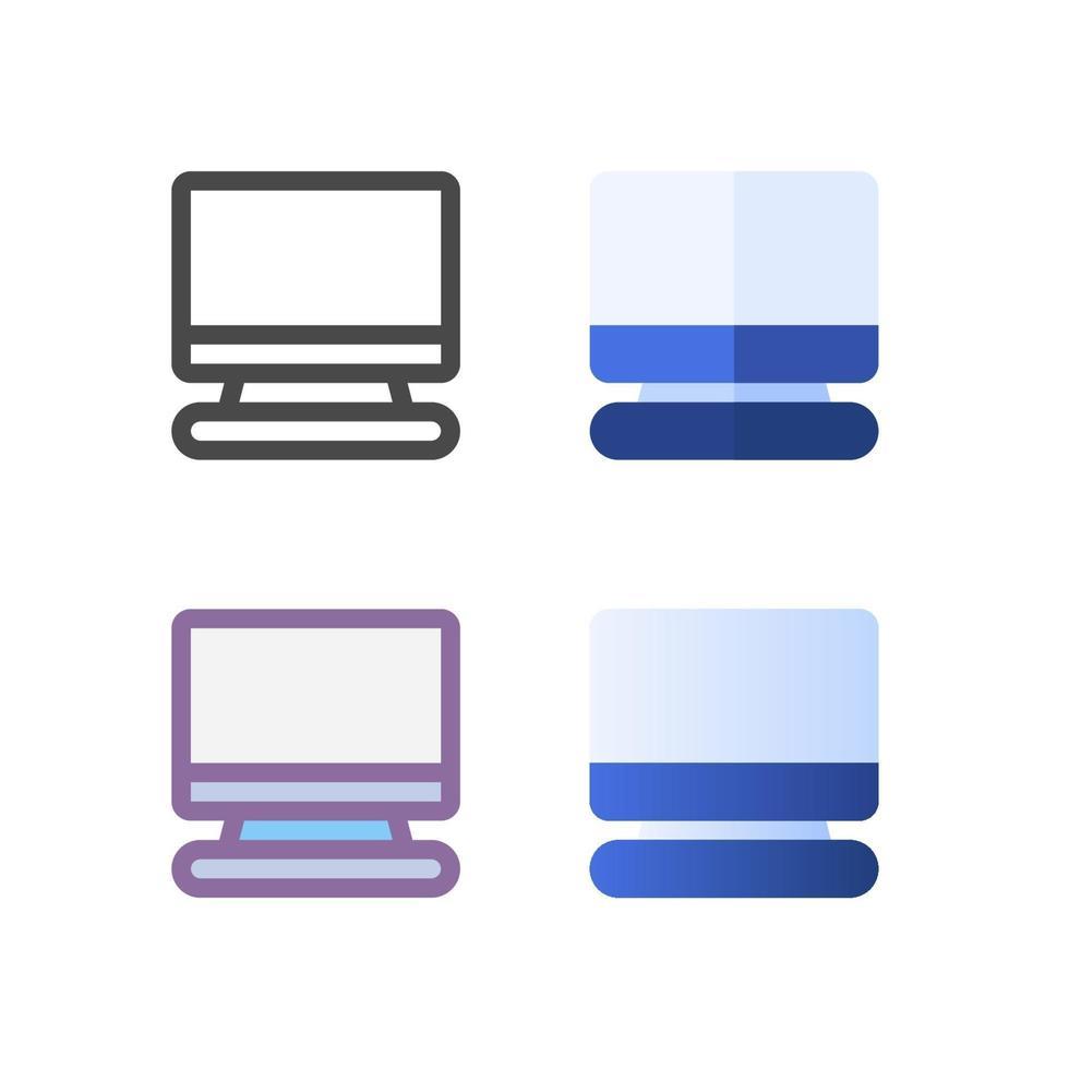 TV-ikonpaket isolerad på vit bakgrund. för din webbdesign, logotyp, app, ui. vektorgrafikillustration och redigerbar stroke. eps 10. vektor