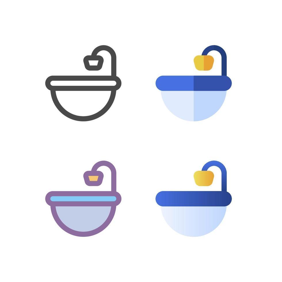 handfat ikon pack isolerad på vit bakgrund. för din webbdesign, logotyp, app, ui. vektorgrafikillustration och redigerbar stroke. eps 10. vektor