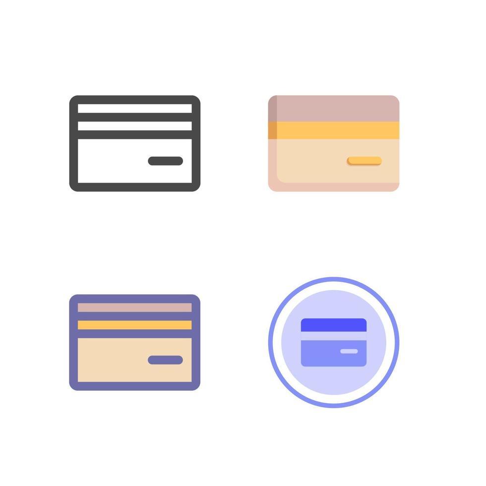 Kreditkarten-Icon-Pack isoliert auf weißem Hintergrund. für Ihr Website-Design, Logo, App, UI. Vektorgrafiken Illustration und bearbeitbarer Strich. eps 10. vektor