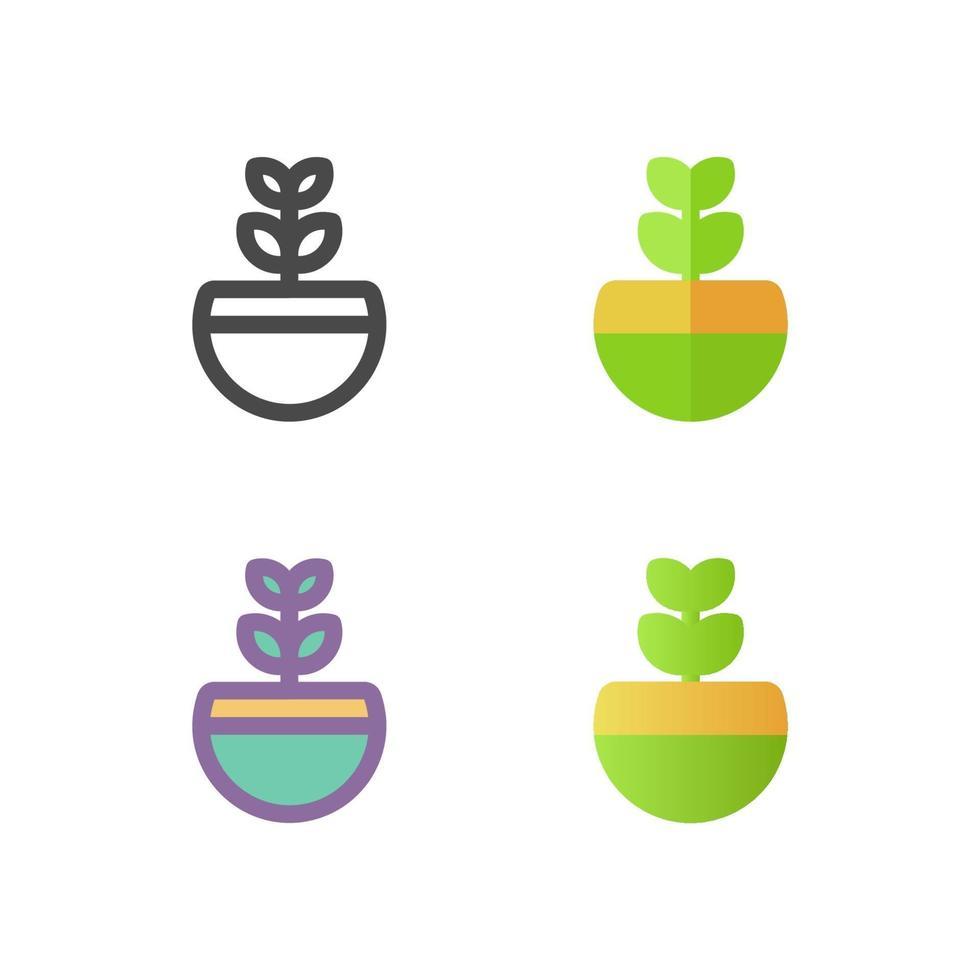 växt ikon pack isolerad på vit bakgrund. för din webbdesign, logotyp, app, ui. vektorgrafikillustration och redigerbar stroke. eps 10. vektor