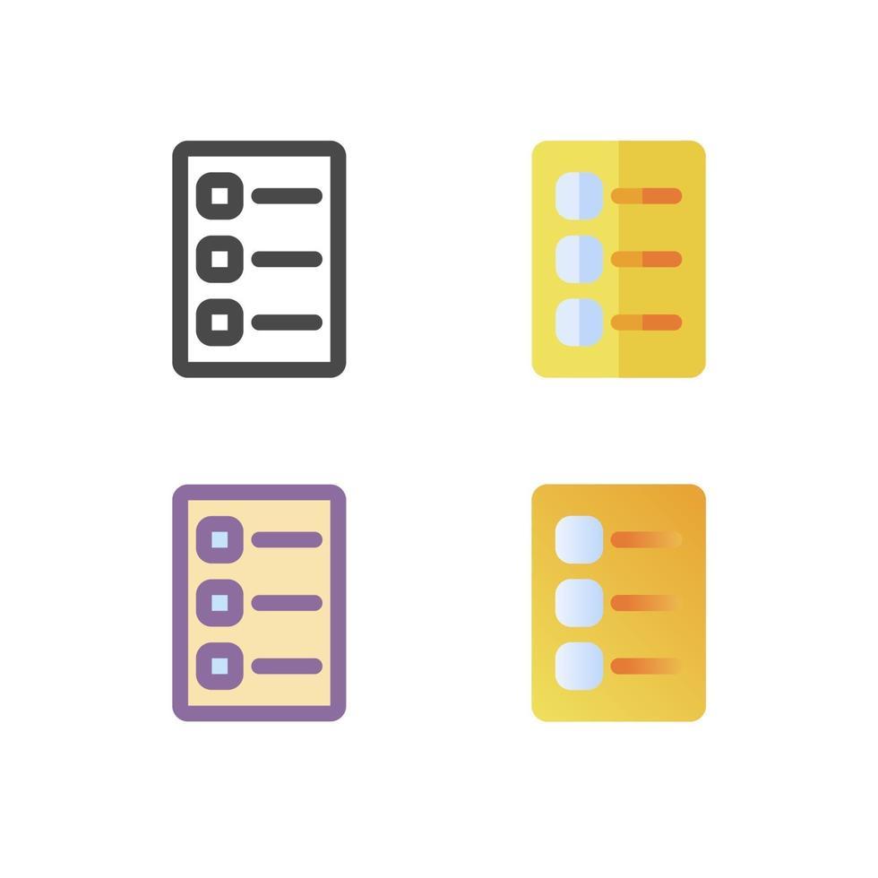 checklista ikon pack isolerad på vit bakgrund. för din webbdesign, logotyp, app, ui. vektorgrafikillustration och redigerbar stroke. eps 10. vektor