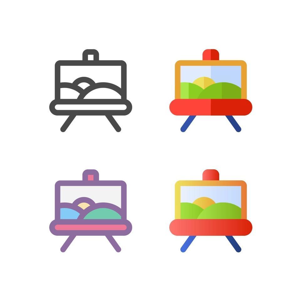 målning ikon pack isolerad på vit bakgrund. för din webbdesign, logotyp, app, ui. vektorgrafikillustration och redigerbar stroke. eps 10. vektor