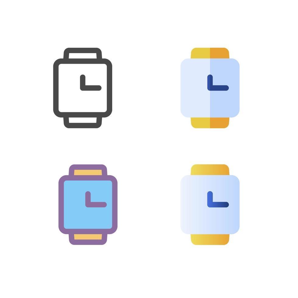 klocka ikon pack isolerad på vit bakgrund. för din webbdesign, logotyp, app, ui. vektorgrafikillustration och redigerbar stroke. eps 10. vektor