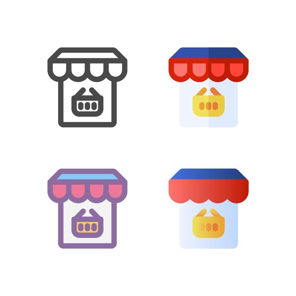 online shop ikon pack isolerad på vit bakgrund. för din webbdesign, logotyp, app, ui. vektorgrafikillustration och redigerbar stroke. eps 10. vektor