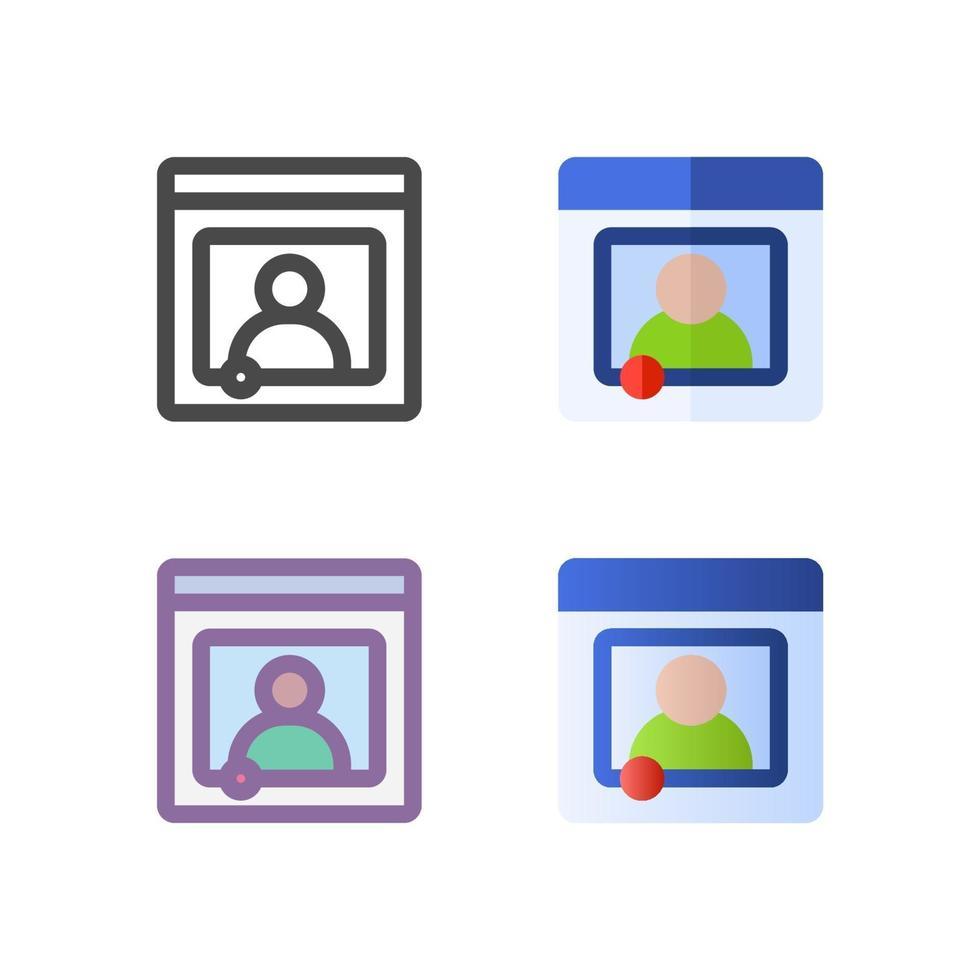 strömmande ikonpaket isolerad på vit bakgrund. för din webbdesign, logotyp, app, ui. vektorgrafikillustration och redigerbar stroke. eps 10. vektor