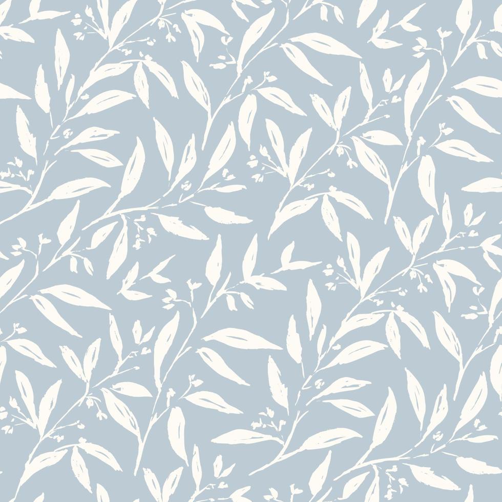 mjuka blommor sömlösa mönster vektor