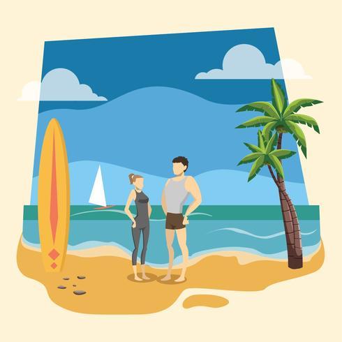 beach bum vektor