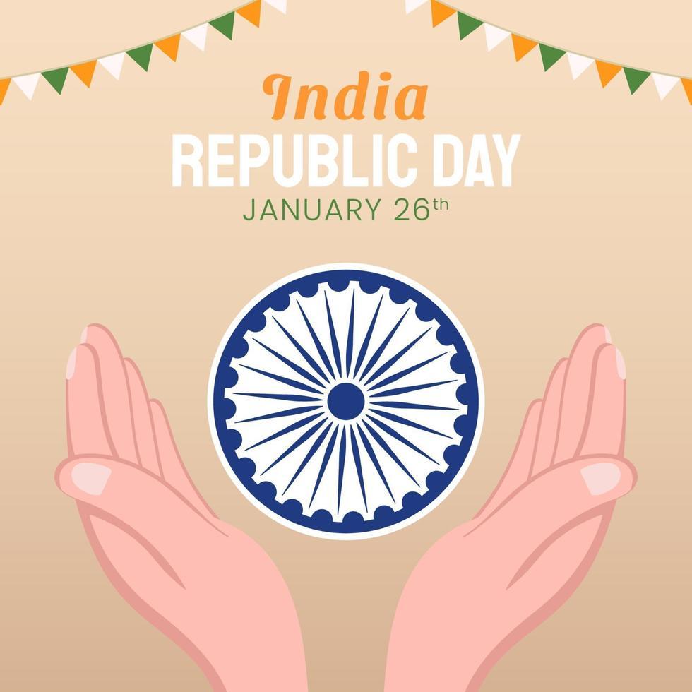 handritad illustration av indiska republikens dag vektor