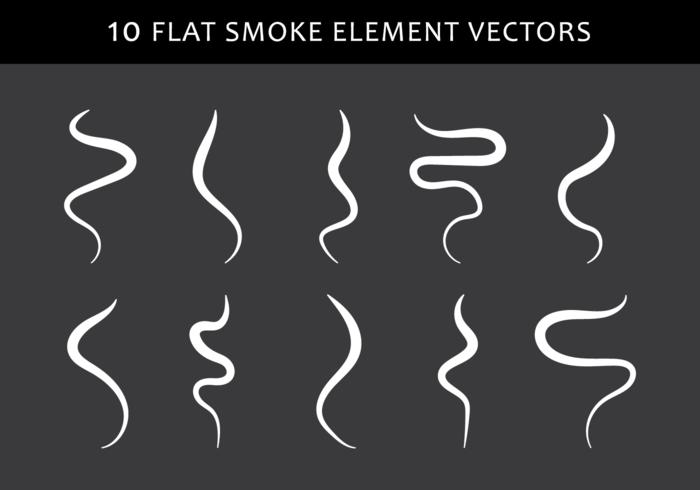 Rauchform vektor