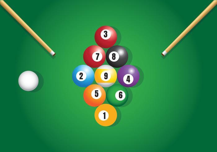 9 Ball Billard Vektor