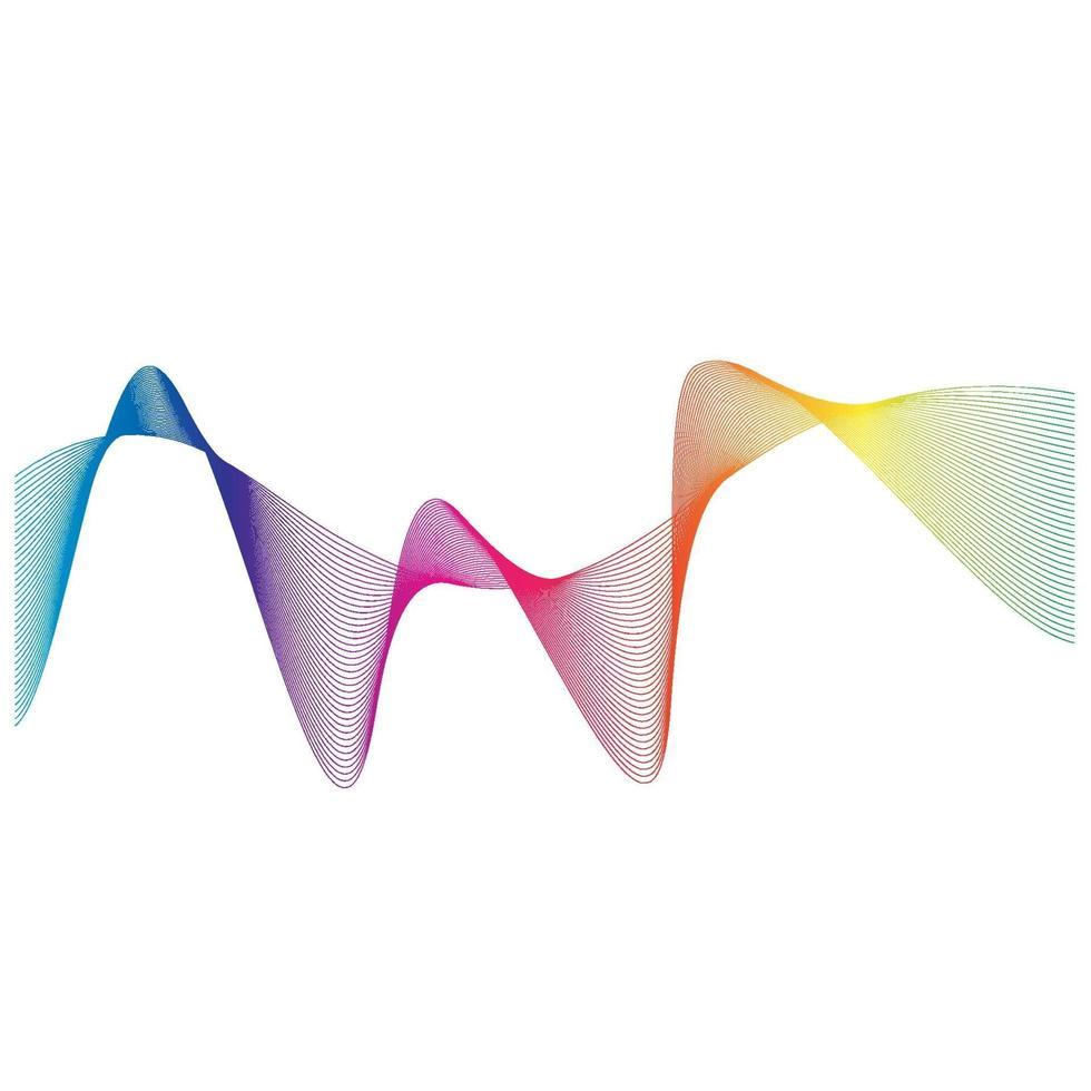 ljudvågor linje vektor illustration design
