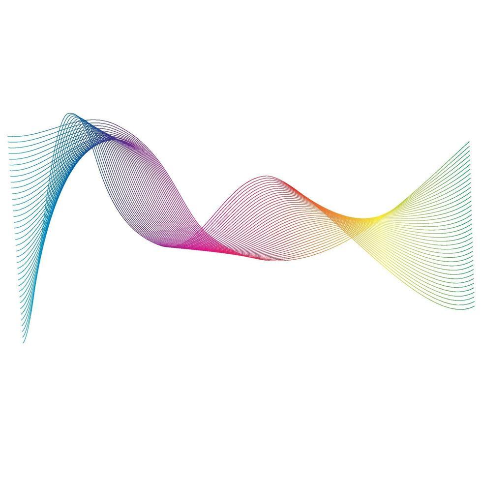 Schallwellen Linie Vektor-Illustration Design vektor
