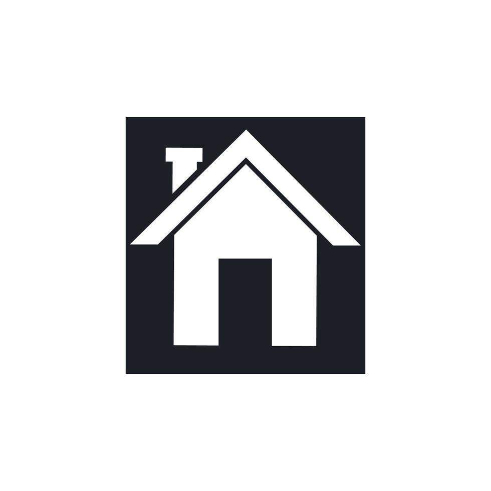 hem logotyp och symbol ikon design vektor