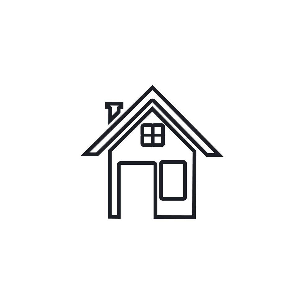 fastighets- och konstruktionslogotypdesign vektor