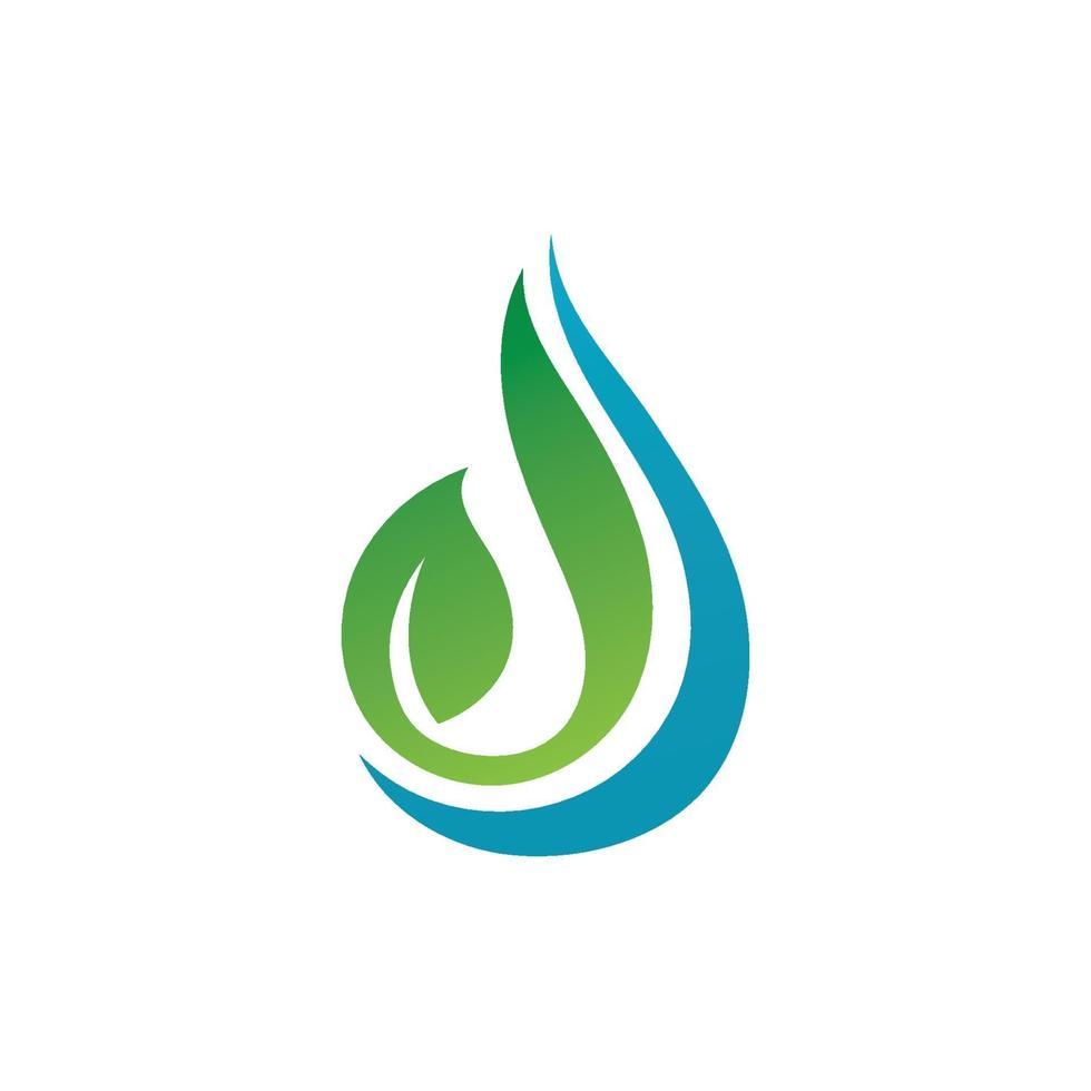 Wasser und Blatt Natur Logo Vektor