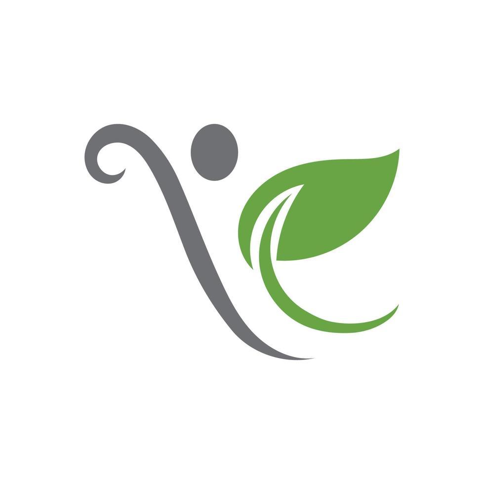 grünes Blattökologie-Naturlogoelement-Vektorbild vektor