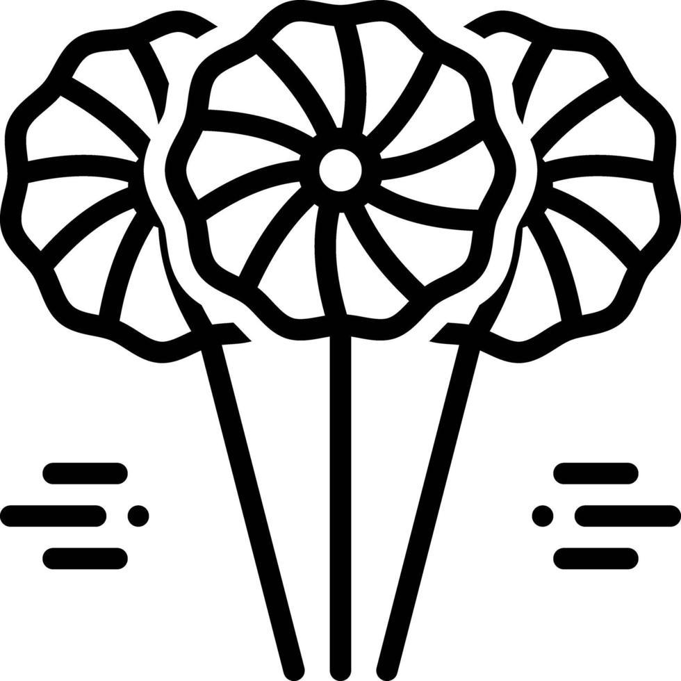 linje ikon för lolipop vektor
