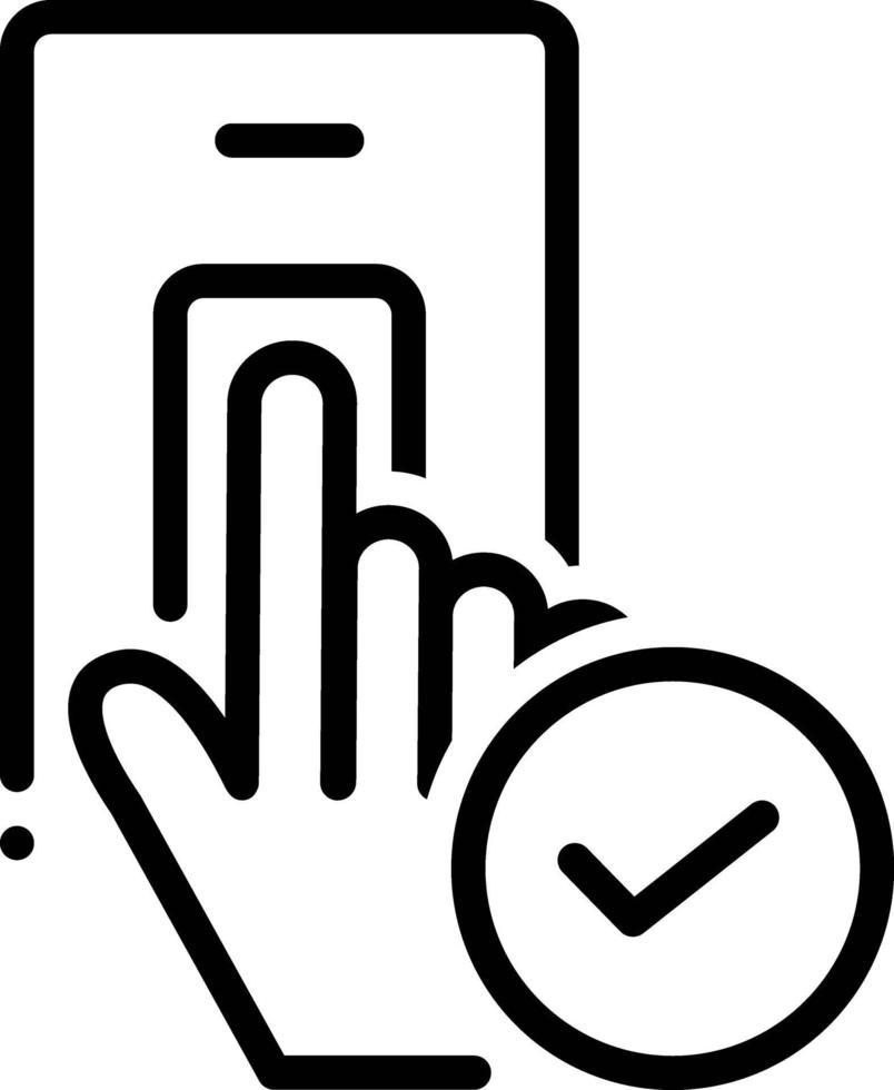 Zeilensymbol für akzeptiert vektor
