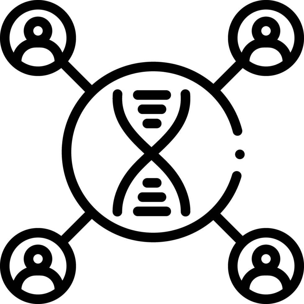 radikon för DNA-matchning vektor