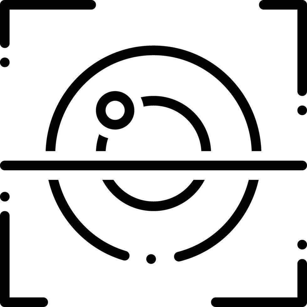 Liniensymbol für die Netzhauterkennung vektor