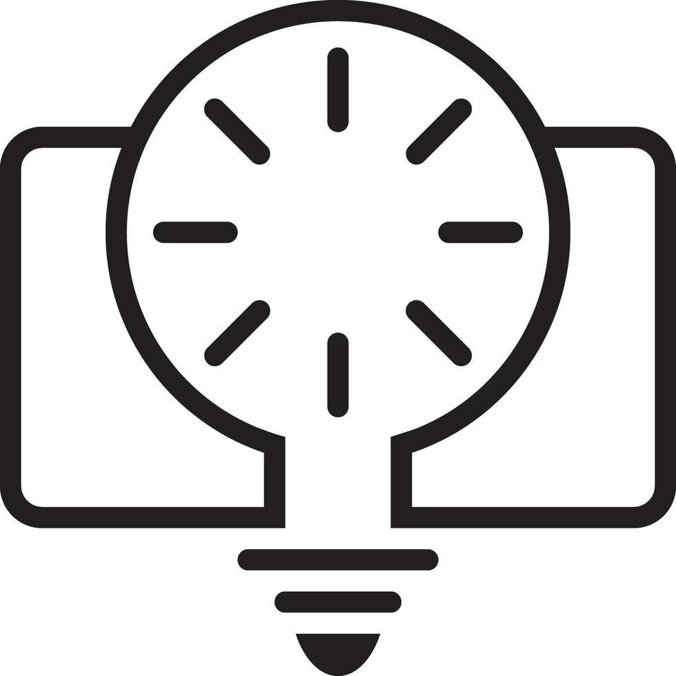 Liniensymbol für Creative vektor