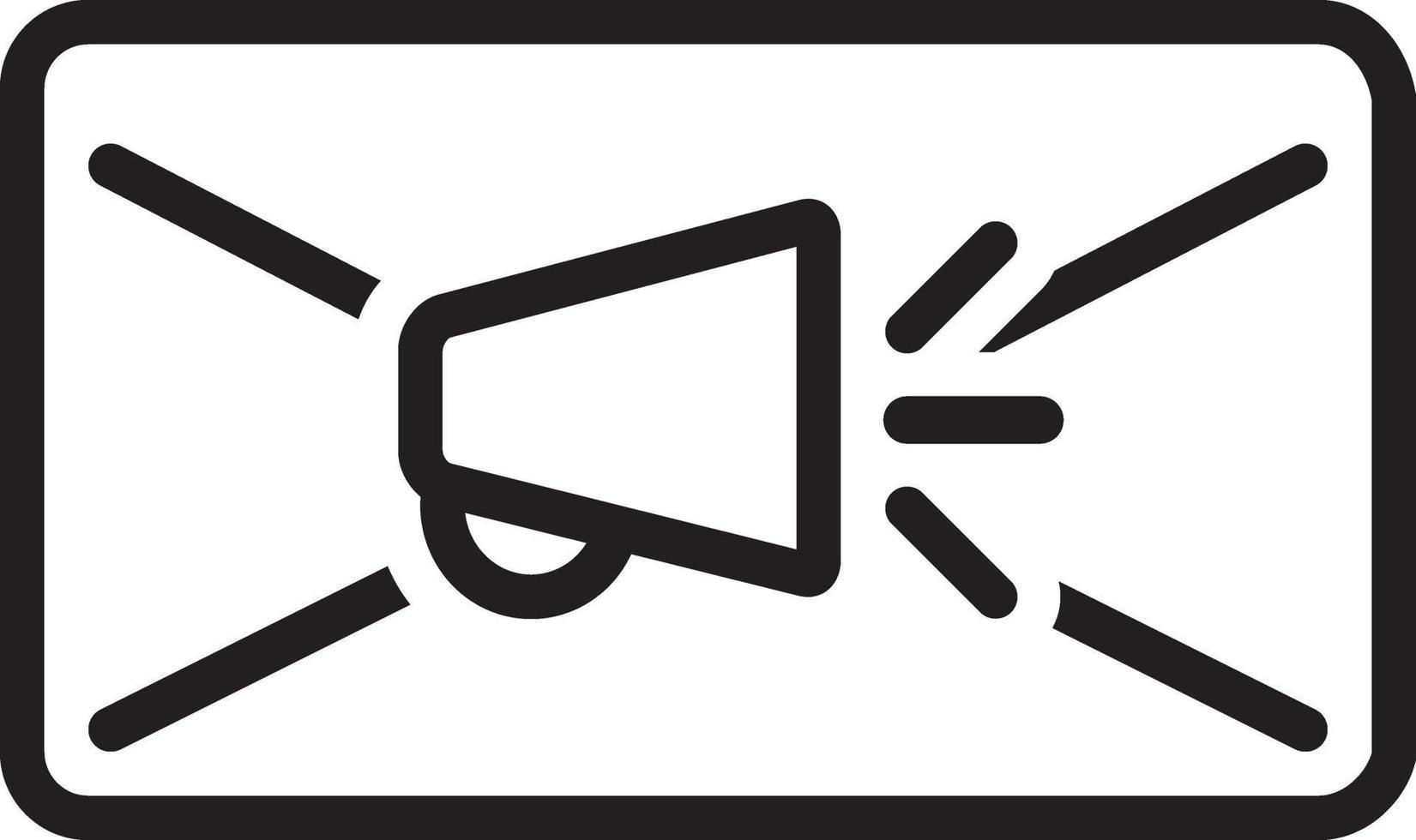 Zeilensymbol für E-Mail vektor