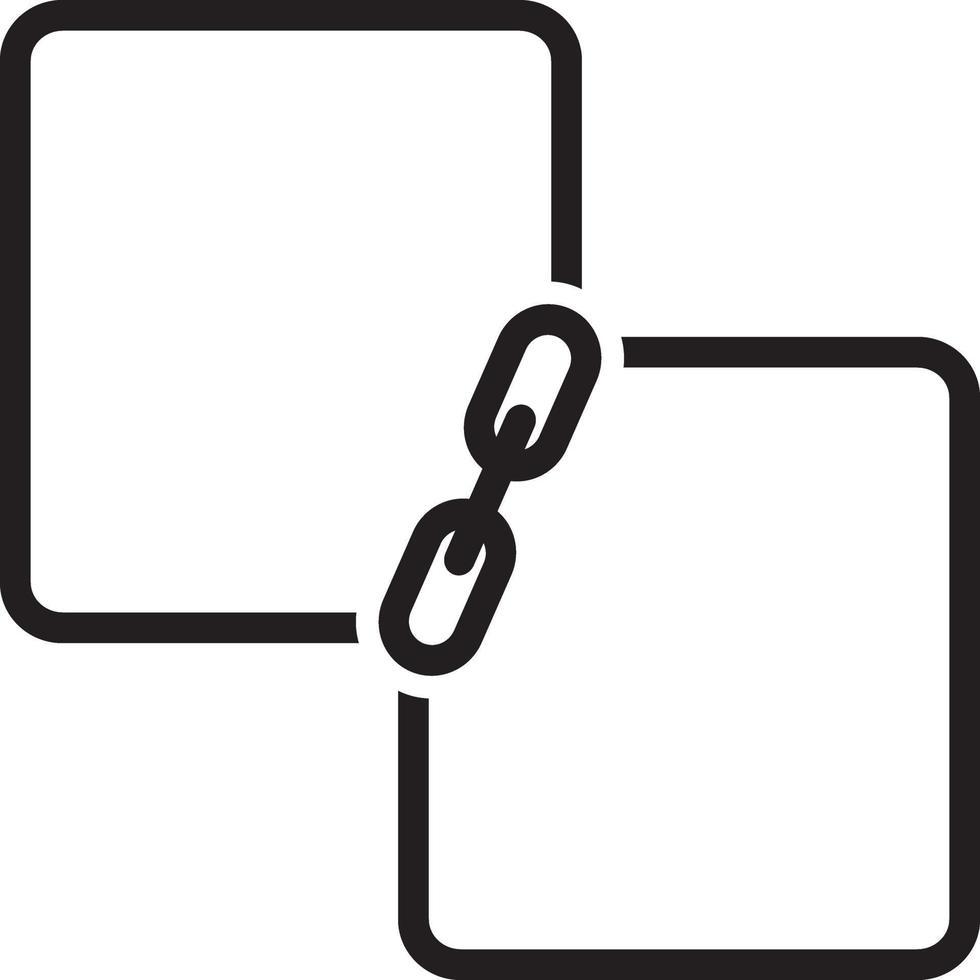 Liniensymbol für Link vektor