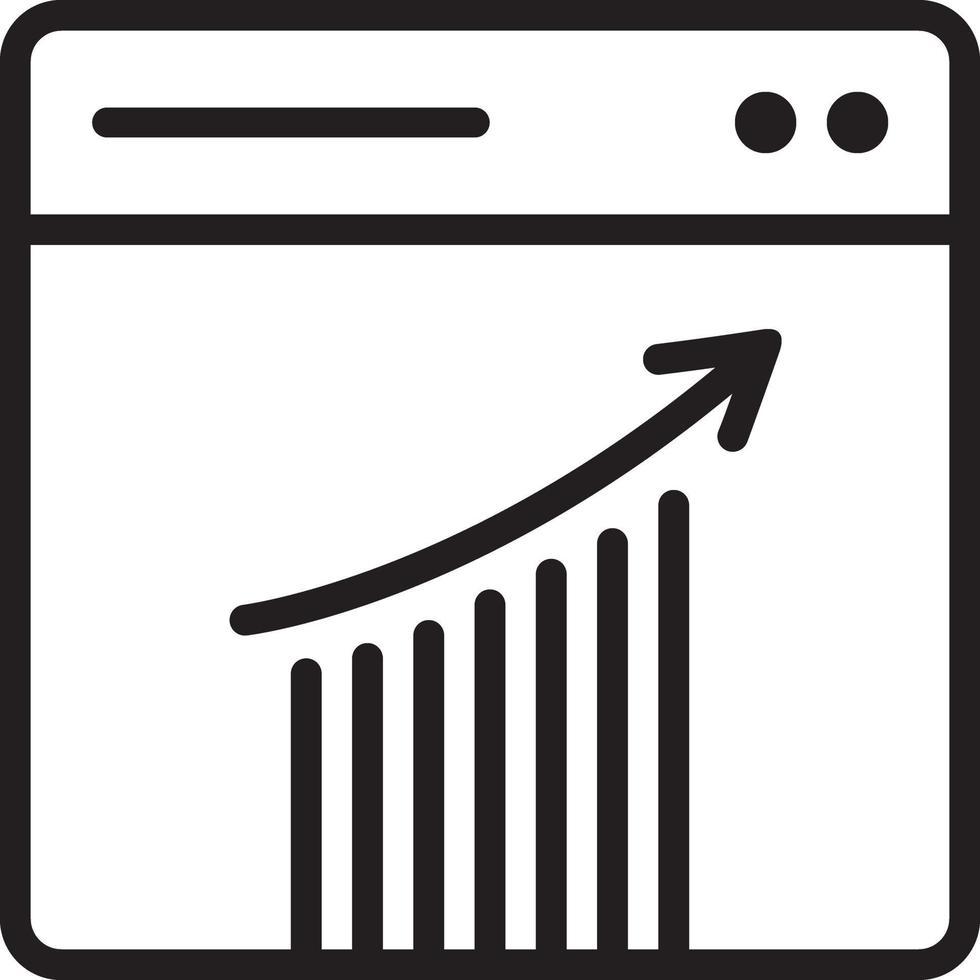 Liniensymbol für die Analyse vektor