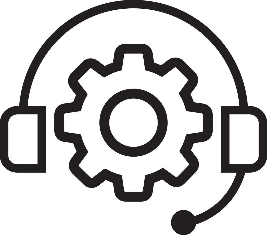 linje ikon för support vektor