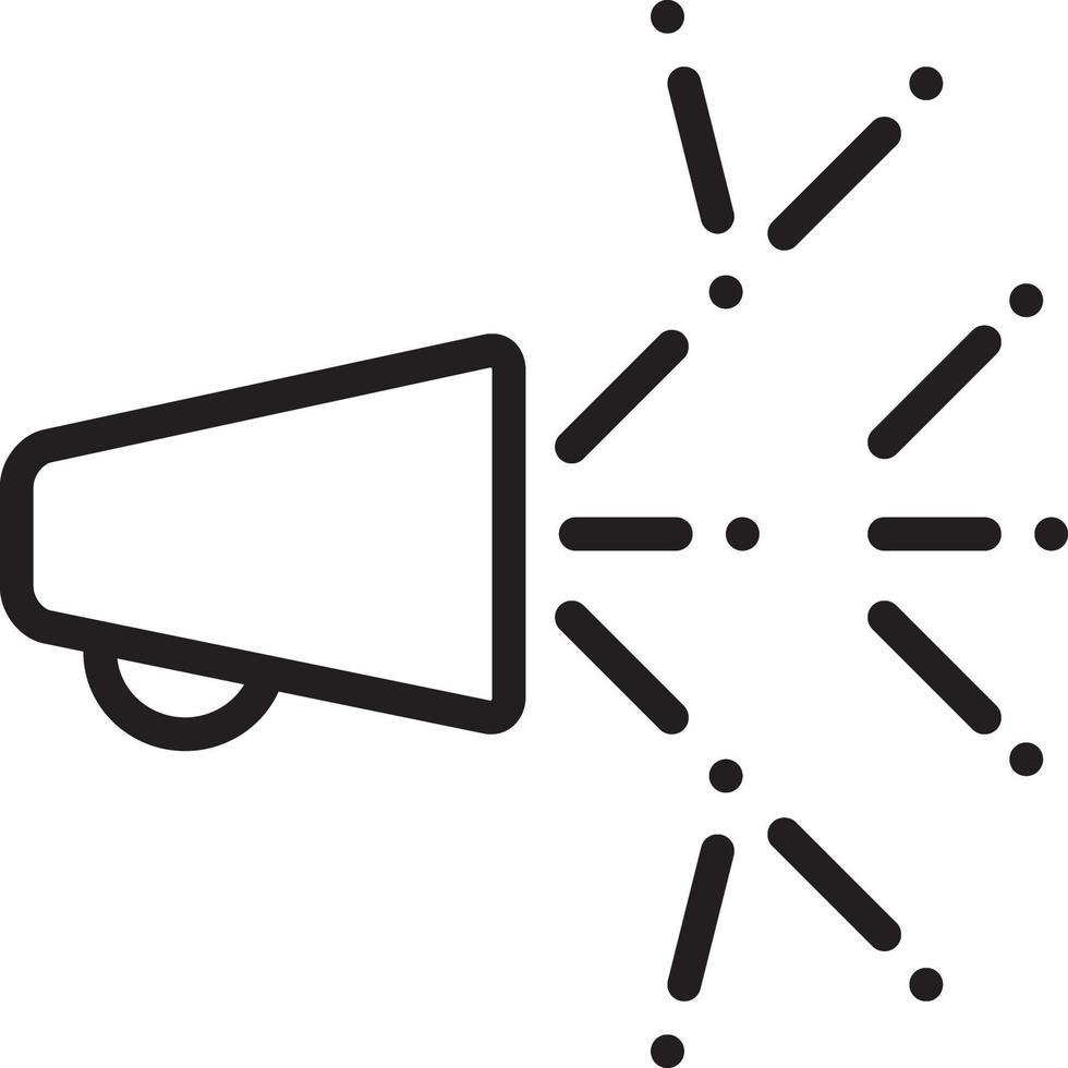 linje ikon för viral vektor