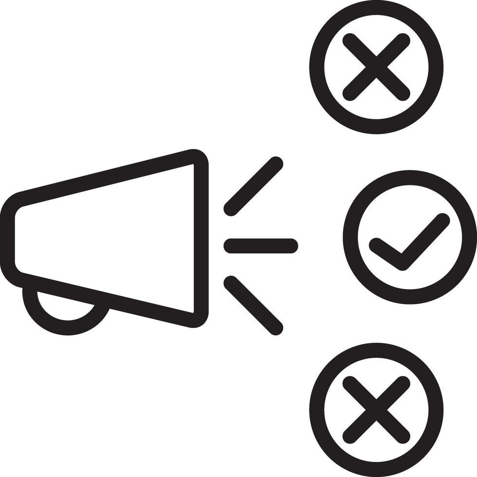 linje ikon för marknadsföring vektor