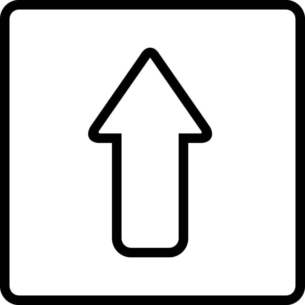 linje ikon för pil vektor
