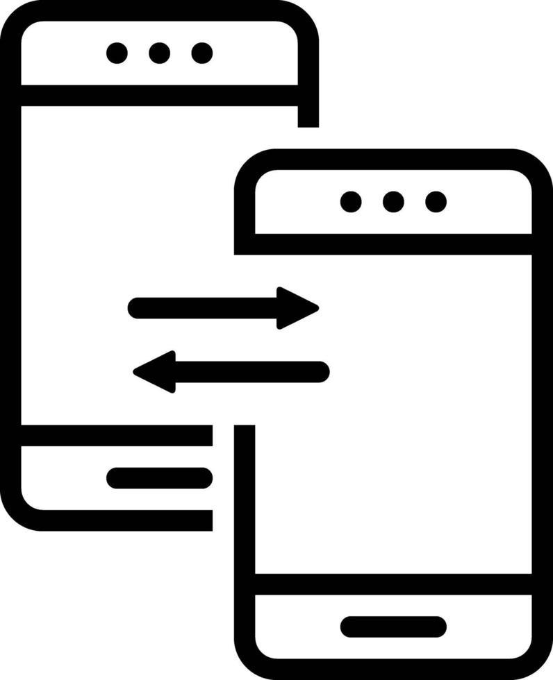 Liniensymbol für Daten vektor