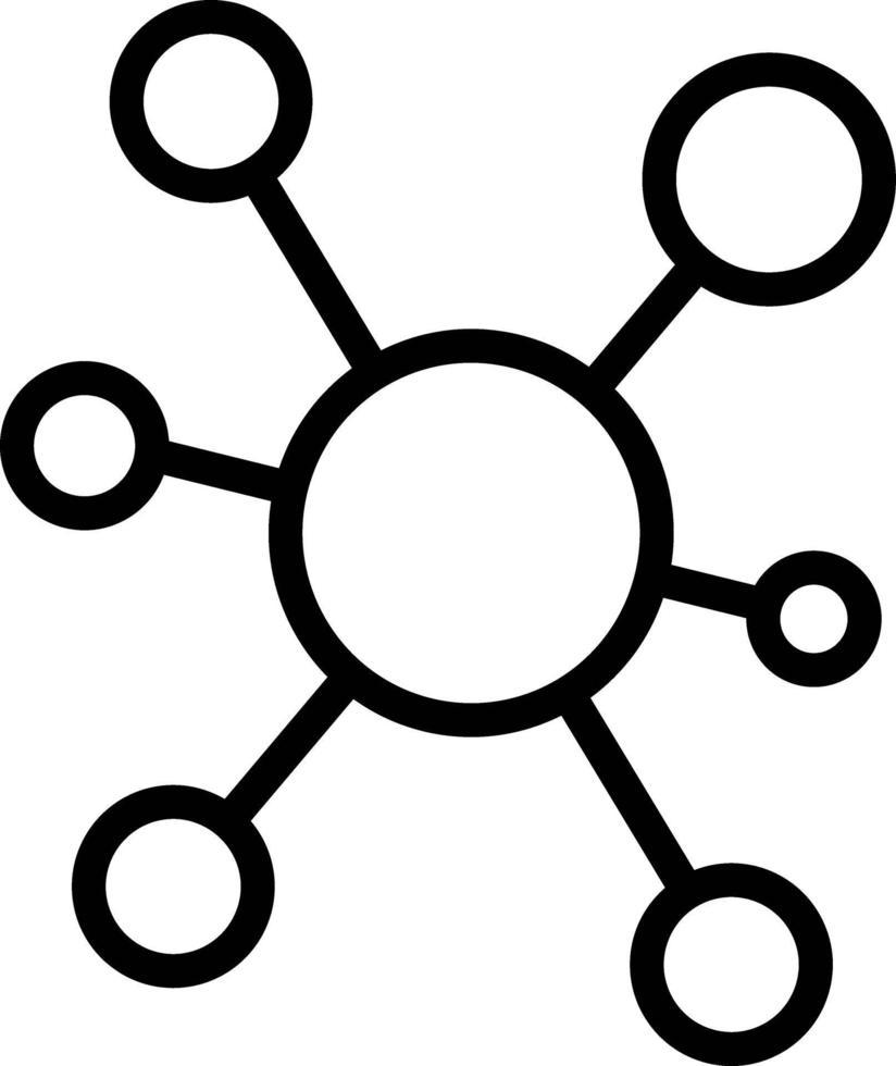 linje ikon för anslutning vektor