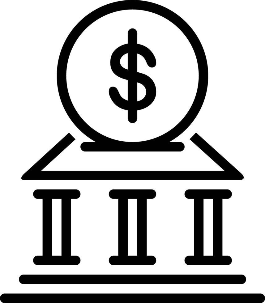 linje ikon för pengar vektor