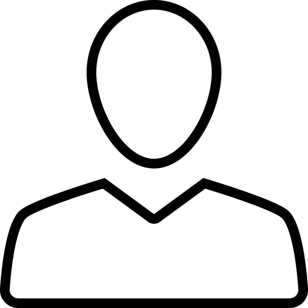 linje ikon för kund vektor