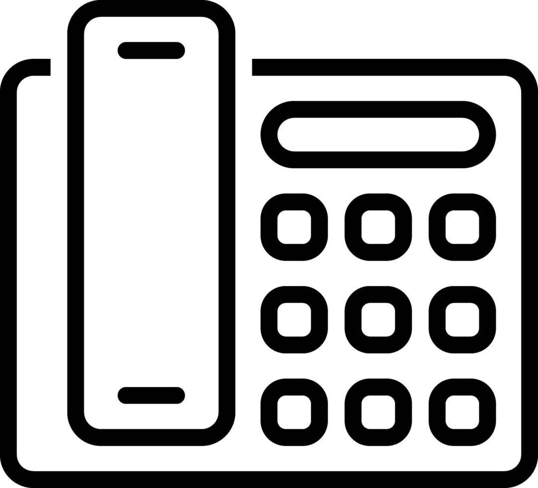 linje ikon för telefon vektor
