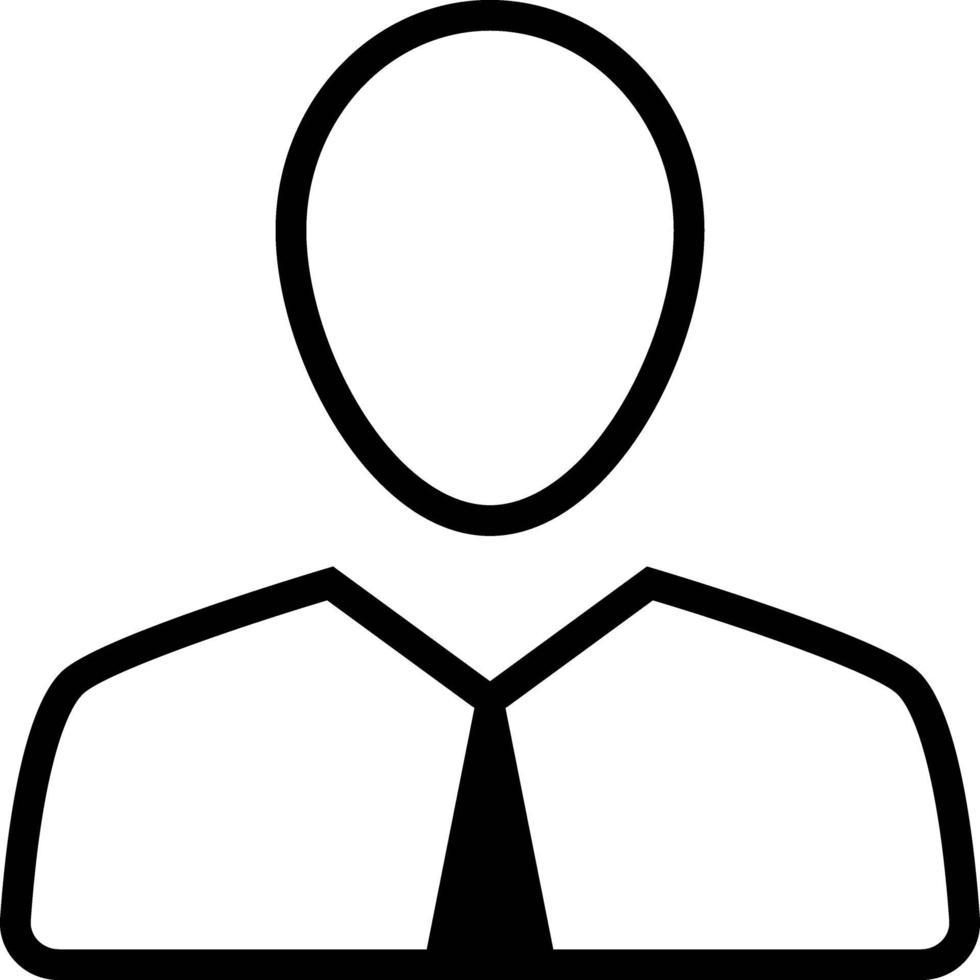 linje ikon för anställd vektor