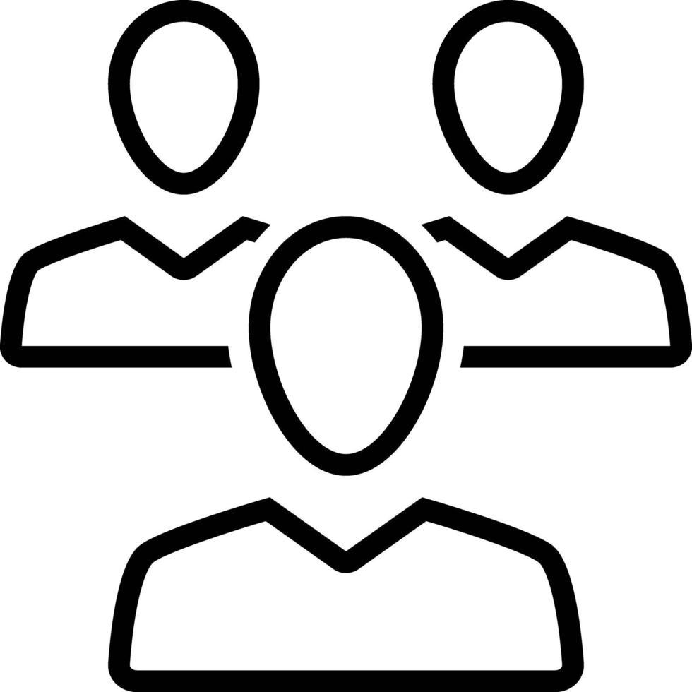 Liniensymbol für Kunden vektor