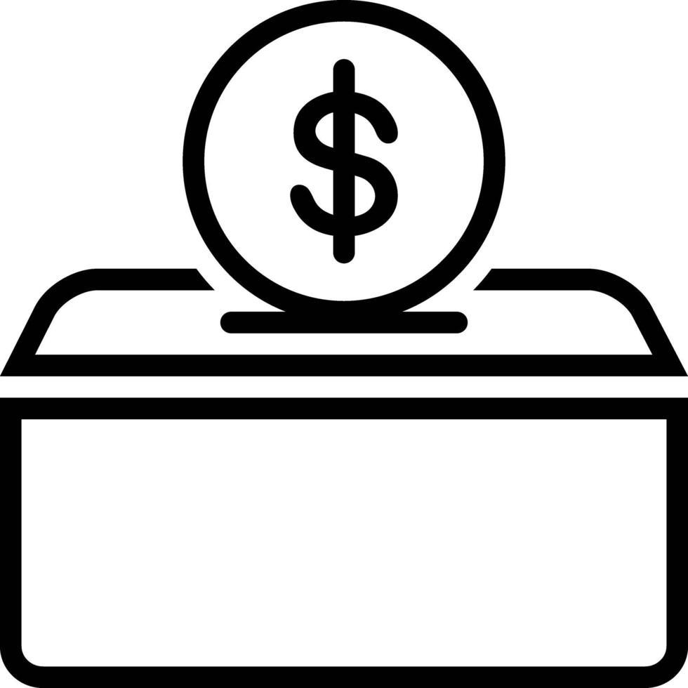 linje ikon för donera vektor