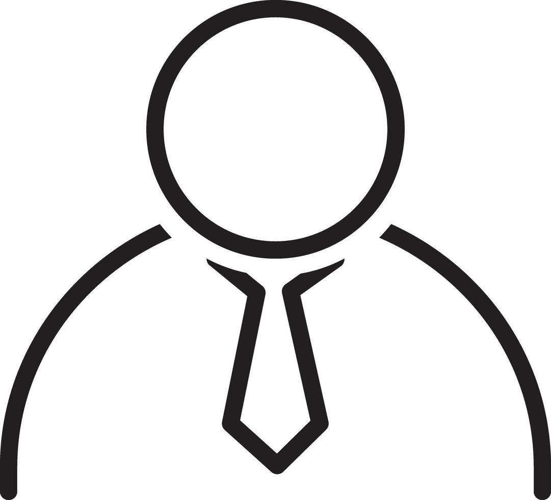 linje ikon för företag vektor