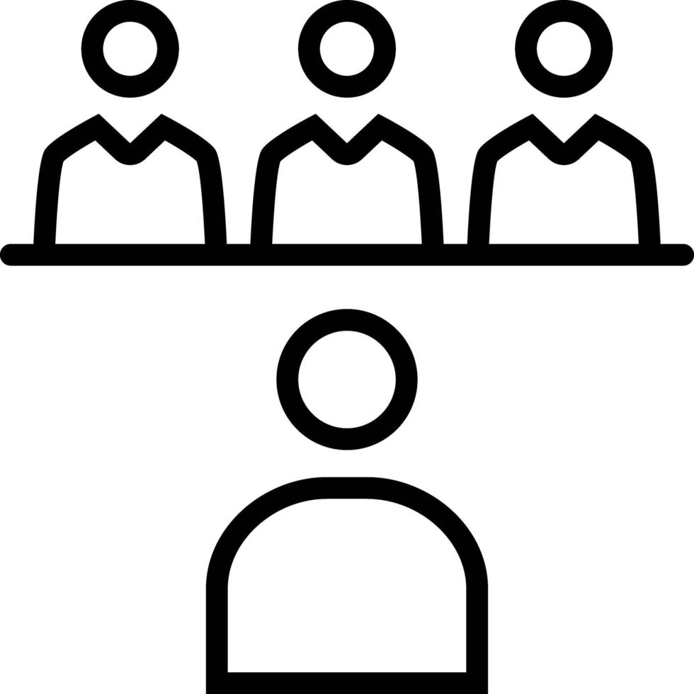 Zeilensymbol für das Interview vektor