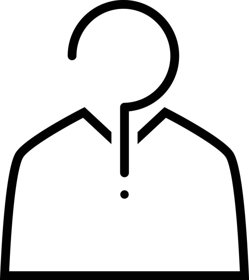 linje ikon för gissning vektor