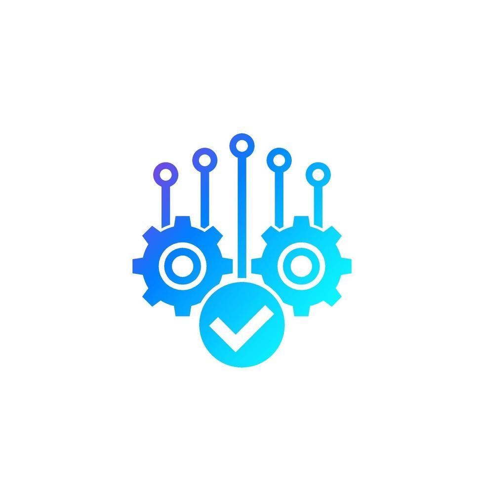 projektets slutförande, vektor ikon